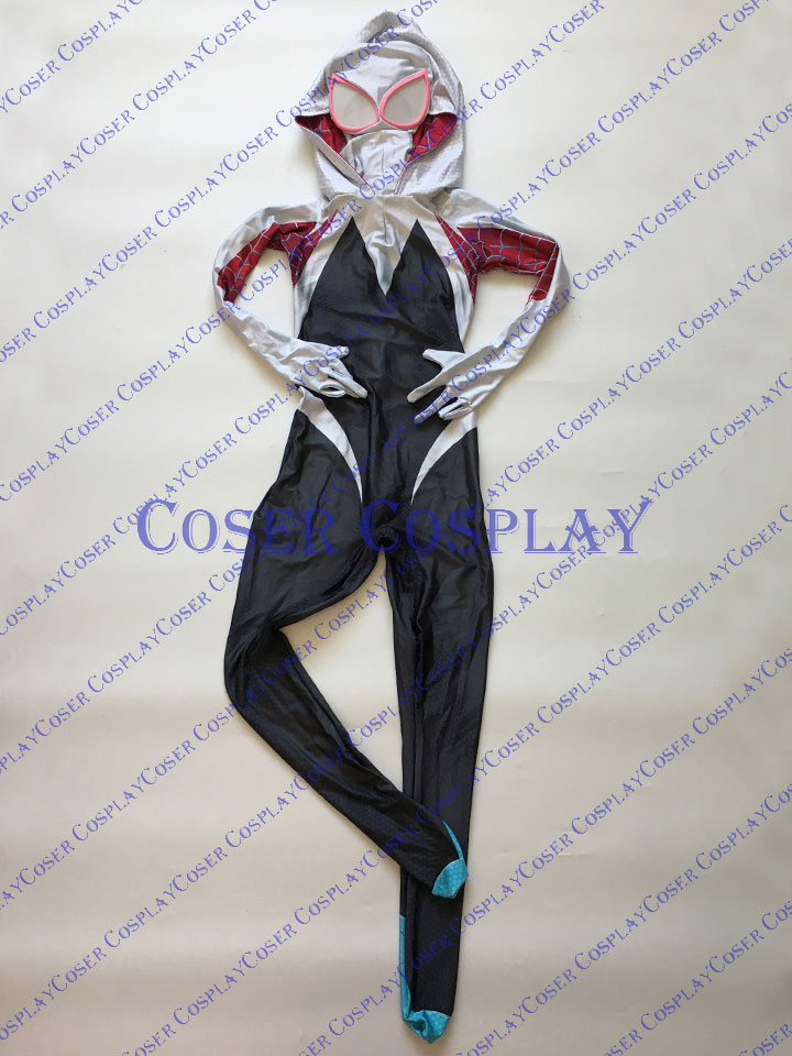2019 Amazing Spider Woman Gwen Stacy Spider Gwen Cosplay Costume 0510