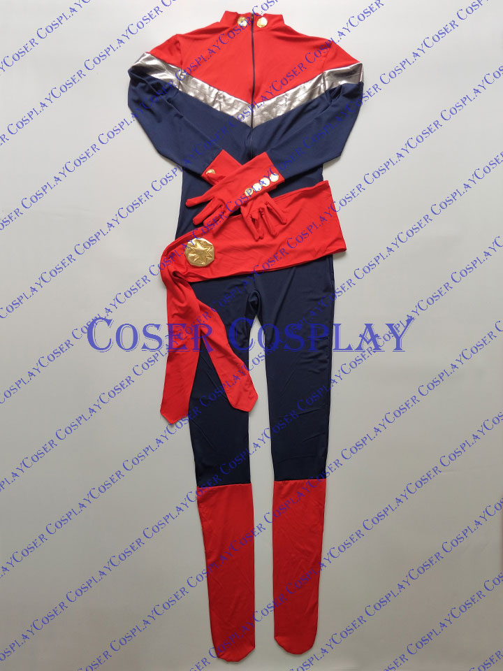 2019 Captain Marvel Carol Danvers Sexy Halloween Costumes 0421