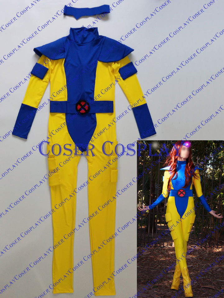 2019 X Men Jean Grey Phoenix Plug Suit Costume 0322